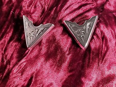 Montana Silversmiths Western Sterling Silver Collar tips