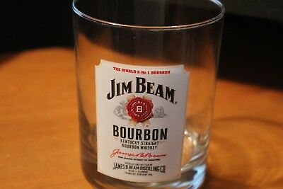 Jim Beam Bourbon Whiskey Rocks Glass