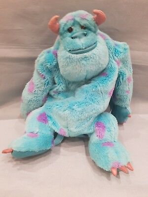 Disney Pixar Monsters Inc Sully Plush/Teddy Adjustable Backpack-Childrens-GC