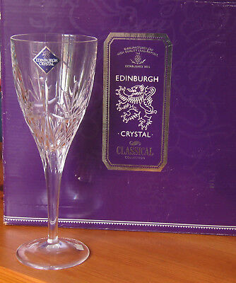 Set Of 4 Edinburgh Crystal Wine Glasses *new*