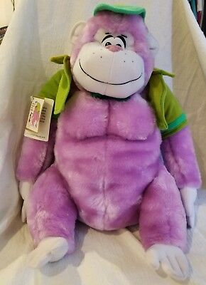 "13"" Great Grape Ape Plush Toy With Tags From Hanna Barbera From 1985 Presents"