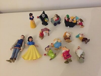 Disney Snow White And The Seven Dwarf Figures X 13 Witch