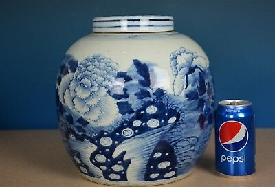 Fine Old Antique Chinese Blue And White Porcelain Tea Jar Marked Rare A1465