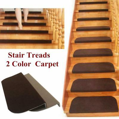 Adhesive Carpet Stair Treads Mats Staircase Step Rug Protection Washable Covers