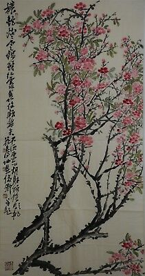 Fancy Large Chinese Painting Signed Master Wu Changshuo No Reserve A7685