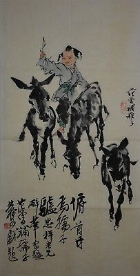 Rare Large Chinese Painting Signed Master Fan Zeng No Reserve Unframed G6955