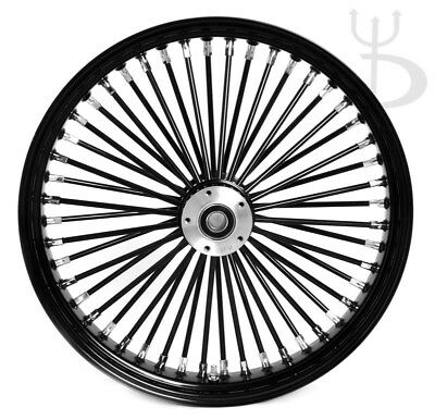 21 x 3 5 fat spoke dual disc bk hub rim spokes w bw tire 4 harley Ram 3500 Rear Hub 21 x 3 5 black front wheel mammoth 48 fat spokes dual disc harley softail dyna