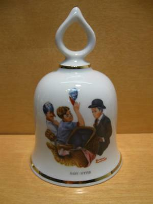"""Vintage Norman Rockwell  Bell """"BABY-SITTER"""" 1979  Limited Edition"""