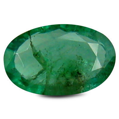 0.32 ct Spectacular Oval Cut (6 x 4 mm) Green (Un-Heated) Emerald Gemstone