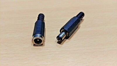 1 PAIR - 2.1 / 2.1mm x 5.5mm DC Jack Plug and Socket Power Connector (2.1/5.5)