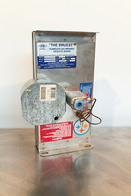 Bruest S612FM Flameless Infrared Catalytic Heater 3000BTU 120VAC Natural Gas