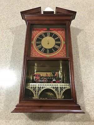 "Franklin Mint The Official Railroad Train Clock ""Jupiter's Moment of Destiny"""