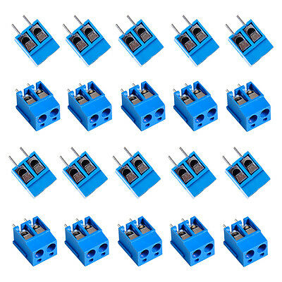 Plug-in Screw Terminal Block Connector 5mm Pitch PCB Mount 2way 2-Pin 50pcs