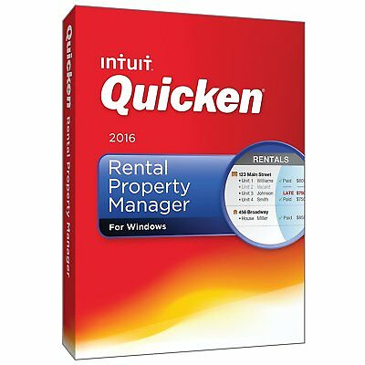 Quicken Rental Property Manager 2016