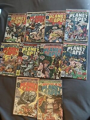 Comic Book Lot Planet Of The Apes 1-11 ( Missing #9) Marvel Comics