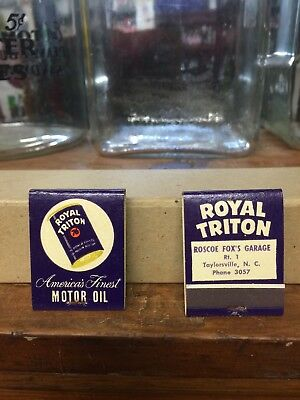 BOX OF 25 VINTAGE UNION 76 TRITON MATCHBOOKS Taylorsville Nc Can Sign Oil Gas
