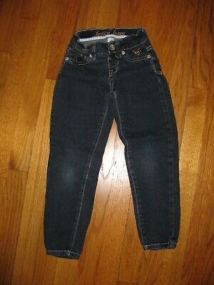 Girls Justice Dark Wash Jeans size 6 regular low rise