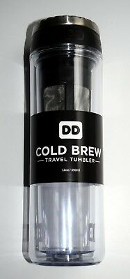 Dunkin' Donuts COLD BREW Travel Tumbler mug 12 Ounce DD 2016 hard to find NEW