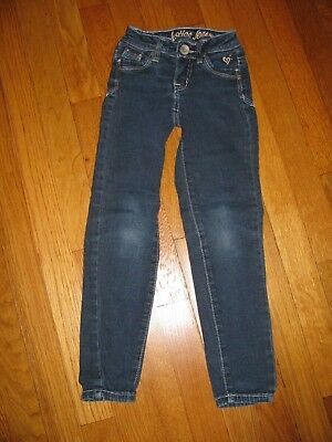 Girls Justice Dark Wash Jeans size 6 slim low rise