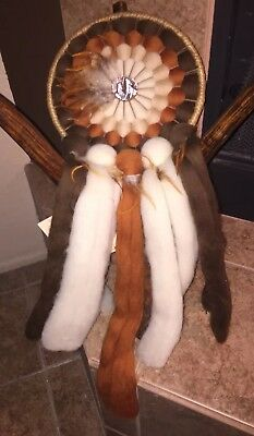"Large Hand Crafted Mandala Dream Catcher Native American  29"" Long"