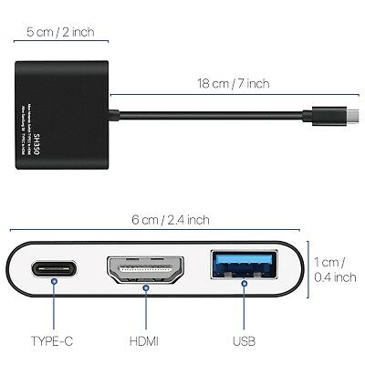 TNP Products TNP Type C to HDMI Adapter for Nintendo Switch - USB Type C Hub,