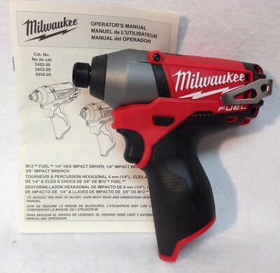 Milwaukee M12 FUEL Impact Drill Driver M12CID-0 skin only Brand New out of a kit