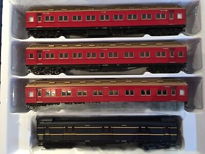 model trains Ho scale 4 car set passenger VR Carriage Red 1963-1971 era