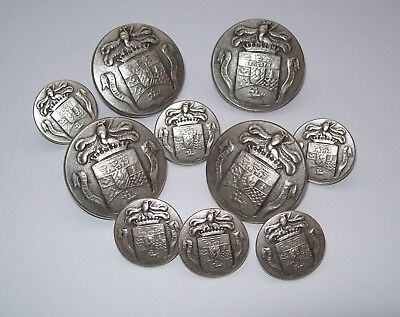 Equestrian Buttons Set - Silver