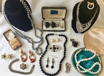 Bulk Estate Lot Costume Jewellery Includes 925 And Pearls