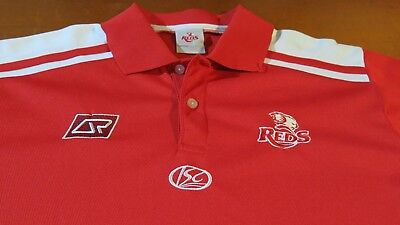 Qld Reds Isc Brand Super Rugby Polo Shirt Size Xl, Good Condition