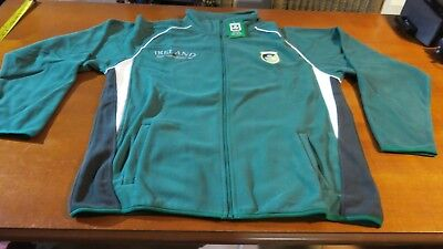 Ireland Rugby Union Team Fleecy 12 Nation Track Top Size Xl - New