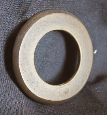 """2 avail 2"""" Vintage NOS Antique SOLID Brass Door Cylinder Mortise Key Hole Plate"""
