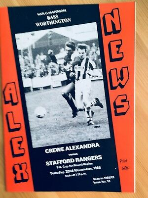 Crewe A v Stafford R 1988-89 FACup R1 Replay