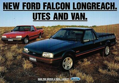 Ford Falcon Longreach Xg Utes Vanfolder 3 1993 Brochure Excellent Condition