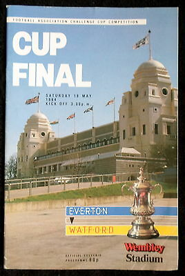 Everton  v   Watford      fa cup final   19-5-1984   vgc