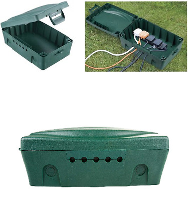 Masterplug IP54 Weatherproof Enclosure Box For Outdoor Electrical Power - Green