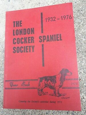 London Cocker Spaniel Society 1976 Hund Dog Zucht Breed Jagd Hunting Foxhound