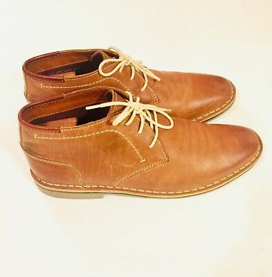 c321700cd95 STEVE MADDEN Mens Heston Chukka Boot Size 9 Tan Leather Ankle Lace Up
