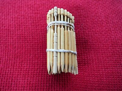 Fifty+ Wooden Lace Making Bobbins