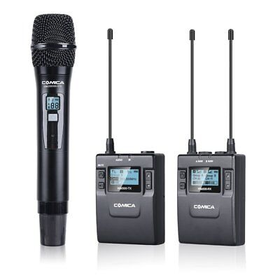Comica CVM-WM300(B) UHF 96-Channel handheld Lavalier camera Microphone System
