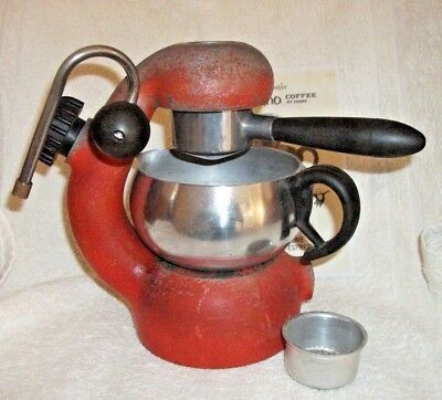 Red ATOMIC Coffee Cappuccino Maker Machine BON TRADING Badge