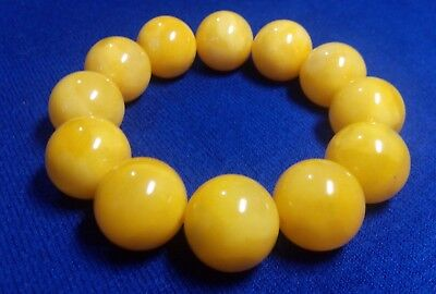 37 g 17,5 mm Antique Bernstein Vintage BALTIC AMBER BRACELET  round beads