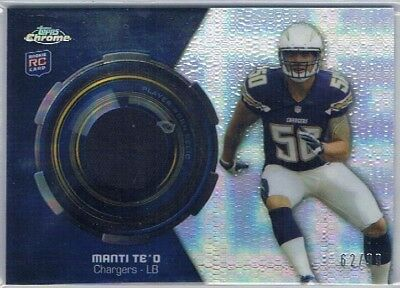 2013 Topps Chrome - Rookie Relic Refractor # Manti Te'o - Chargers #62/99