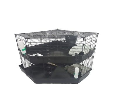 Two Storey Rabbit Guinea pig Corner cage for Small Animals
