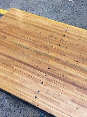 Bowling Alley Timber Slab 1.85m x 1m x 55cm Reclaimed Recycled Vintage Rare Wood