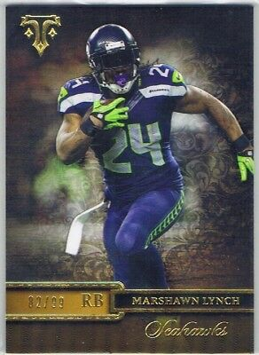 2014 Topps Triple Threads - Gold Parallel #9 Marshawn Lynch - Seahawks #82/99