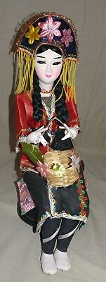 Vintage Traditional Chinese's Doll on Music Box Stand - **Beautiful Doll**