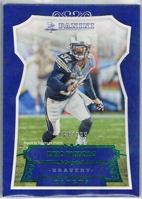 2016 Panini Football - Bravery Parallel #100 Eric Weddle - Chargers #168/199