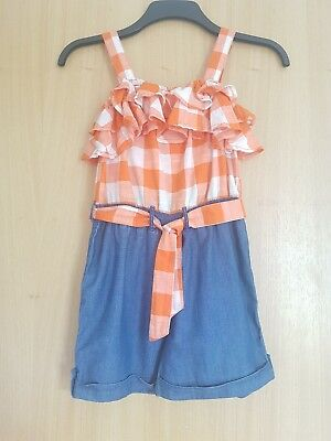 Girls next playsuit age 10 shorts and top