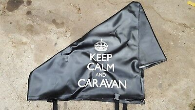 Black Keep Calm and Caravan Hitch Cover